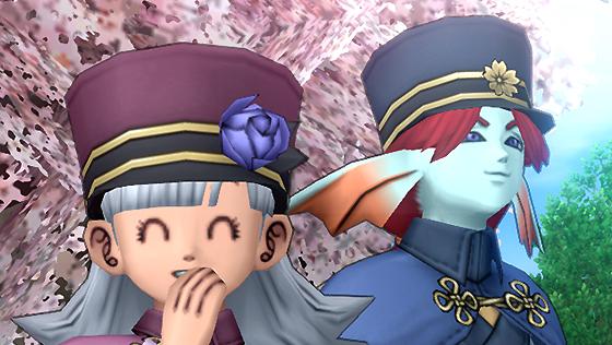 夜桜の帽子/桜花の帽子【フリーパス】