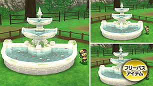 朽ちた遺跡の庭用噴水【フリーパス】