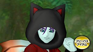 黒猫のフード【フリーパス】