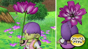 桃色れんげの傘