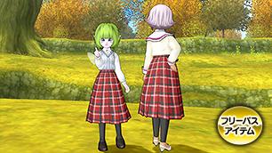 チェックのスカート【フリーパス】