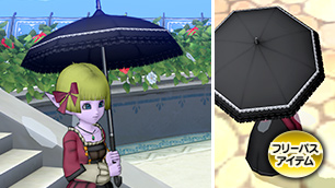 黒いレースの日傘【期間限定・特別価格】