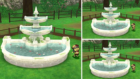 朽ちた遺跡の庭用噴水 [FP]