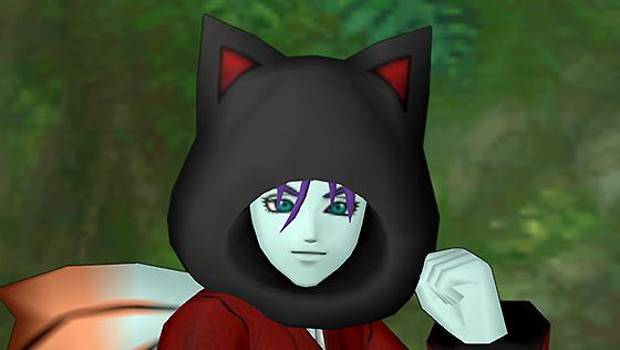黒猫のフード [FP]