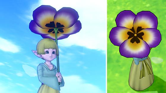 紫色パンジーの傘 [FP]