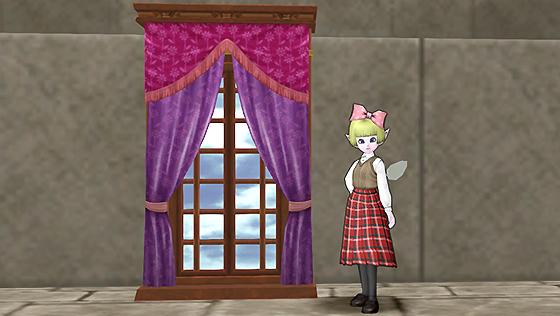 壁かけのカーテンつき窓 [FP]