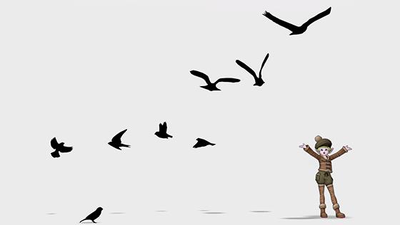シルエット・鳥[FP]