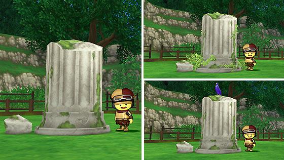 朽ちた遺跡の庭用柱 [FP]
