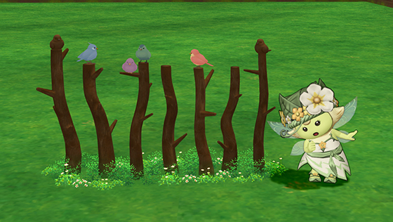 小鳥の柵・茶(庭具) [FP]