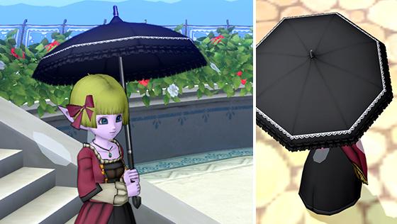 黒いレースの日傘 [FP]