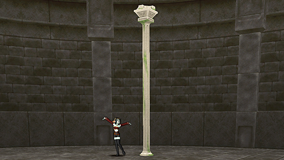 朽ちた遺跡の家用柱 [FP]