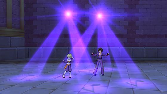 しぐさ書・ダンシング紫