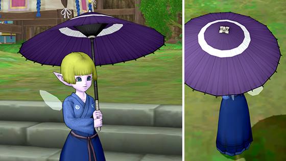 紫地に蛇の目傘 [FP]