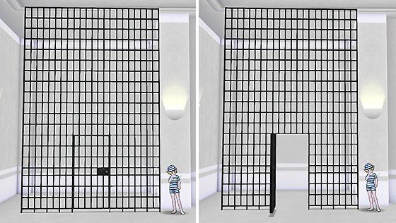 扉付き牢屋のついたて [FP]
