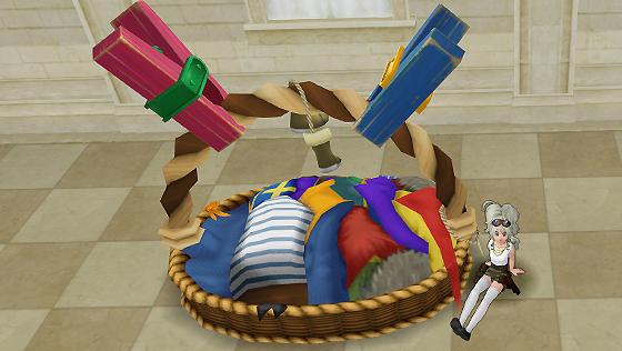 洗たくカゴのベッド [FP]