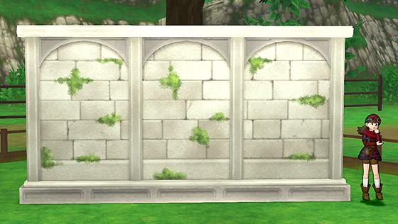 朽ちた遺跡の庭用壁 [FP]
