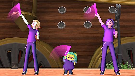 しぐさ書・ネオン紫