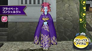 プラコン女性紫ふりそで【フリーパス】
